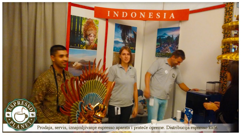 Espresso Planetna sajmu turizma sa kolegama iz Indonezije.